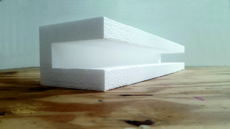 U-Shaped Polystyrene Packaging
