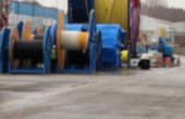 large umbilical cable reel