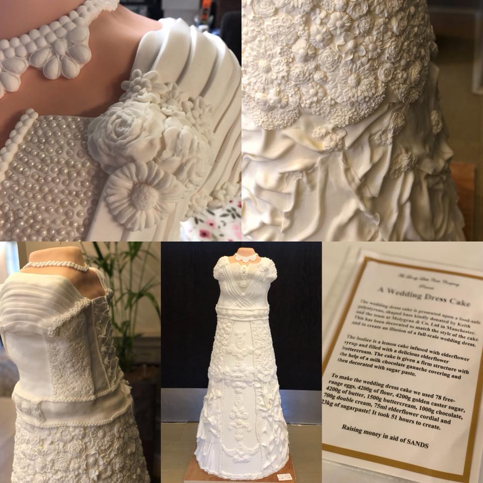 polystyrene cake wedding dress