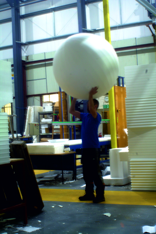 giant polystyrene football