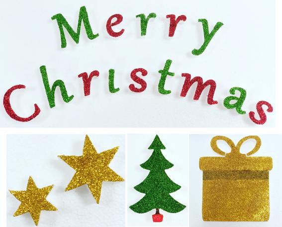 Polystyrene Merry Christmas Lettering