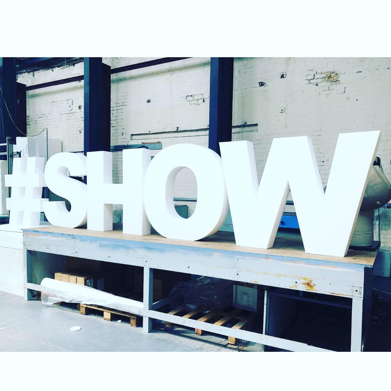 Polystyrene Large Letter '#SHOW'