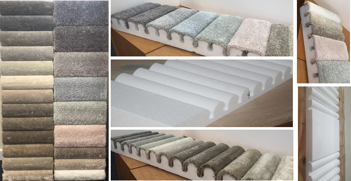 Expanded Polystyrene Carpet Sample Display