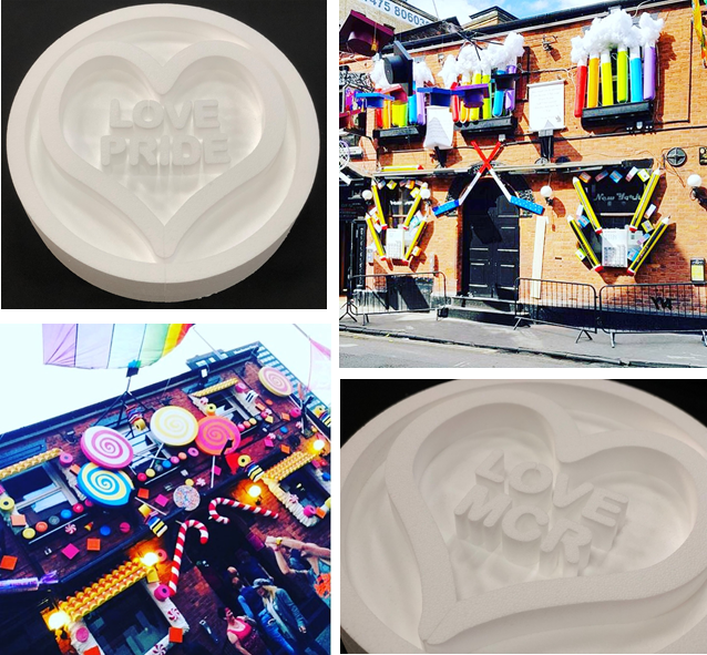 Expanded Polystyrene Pride Decorations