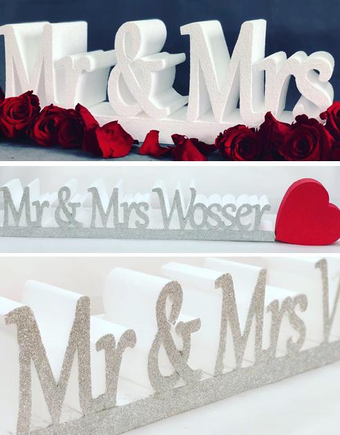 Mr & Mrs Wedding Sign